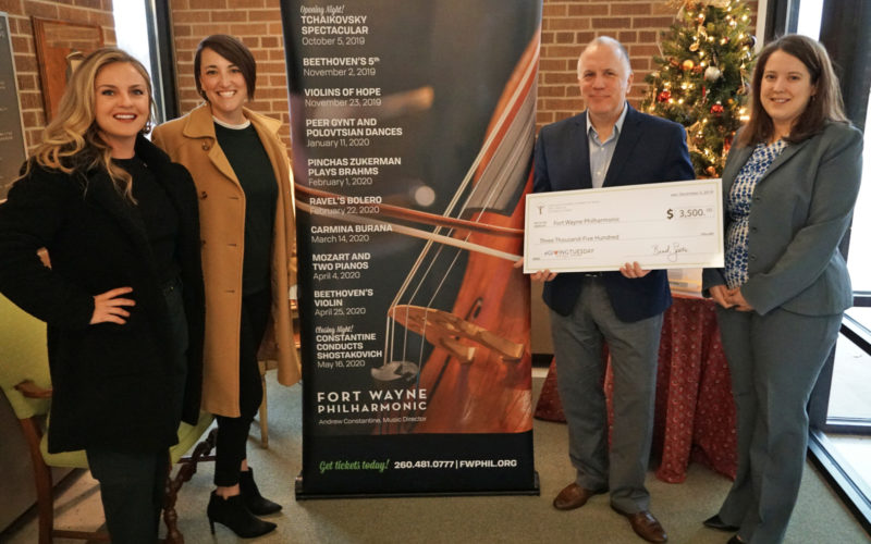 Giving Tuesday 2019 - Community Foundation of Greater Fort Wayne gives Fort Wayne Philharmonic surprise check!