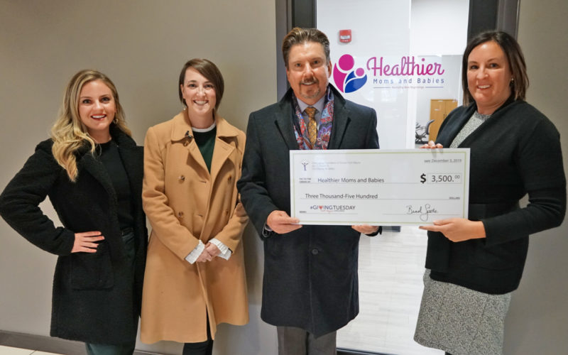 Giving Tuesday 2019 - Community Foundation of Greater Fort Wayne gives Healthier Moms and Babies surprise check!