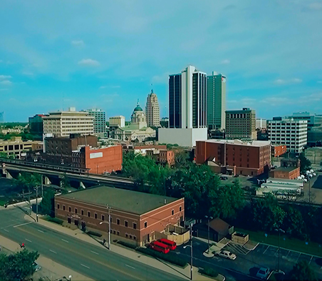 city of fort wayne areal shot