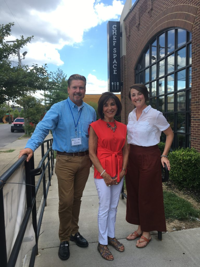 Brad and Alison with Board Member Irene Walters in Louisville