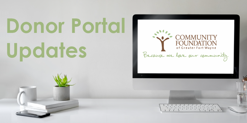 Donor Portal Updates at CFGFW